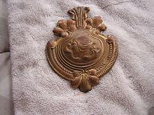 Antique Art Nouveau Lady Badge Ornament Saddle