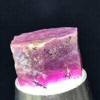 Top Natural Unheated Violet Sapphire Corundum Facet Rough Specimen 13g A4165