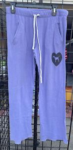 Womens Victorias Secret PINK sweatpants boyfriend style purple Color  Small