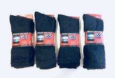12 Pairs Men Cotton Black Crew Sport Socks - NEW
