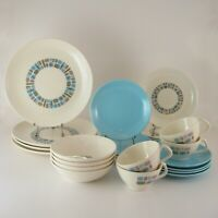 VTG Temporama Dinnerware Set, Service for 4, Canonsburg Pottery, Mid-Century Mod
