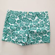 New TORY BURCH Gabriel Shorts Viridian Green Captiva sz 14 Cotton Spandex $175