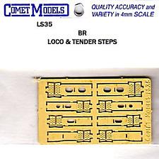 Comet Models LS35 BR Loco & Tender Steps Loco Steps (Pk8) - Brass OO Gauge