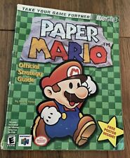 2001 N64 Brady Games PAPER MARIO OFFICIAL STRATEGY GUIDE BOOK Nintendo 64 Used