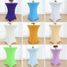 Round Cocktail Spandex Fitted Stretch Tablecloth Table Cover Wedding Event US