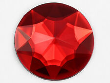 43mm Red Ruby Flat Back Round Acrylic Jewels Costume Rhinestone 4 Pieces