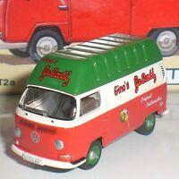 BUB 08704 VW T2A GINO´S GELATI LIMITED EDITION DIECAST METAL ECHELLE 1:87 HO NEW