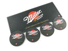 New Free Shipment  Miller GENUINE DRAFT Spill mat and 4pcs Miller Coaster