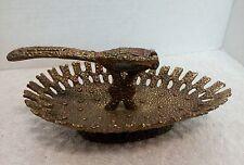 Art Nouveau Nut Cracker Brass with Shell Catcher Unique