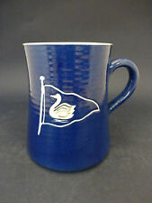 C1970s Rainham Pottery China Tankard: Sailing Pennant: Swan: 10.7cm High