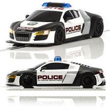 SCALEXTRIC Slot Car C3932 UnBoxed Audi R8 Police Car - Black & White