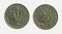 s646_42) Vittorio Emanuele III  (1901-1943) 25 Centesimi Valore 1903