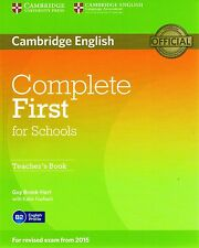 Cambridge COMPLETE FIRST FCE FOR SCHOOLS Teacher's Book for Exam from 2015 @NEW
