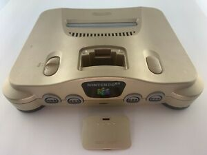 NTSC-J no memory pak - Nintendo 64 console only Gold Japan N64 Japanese