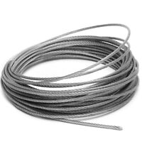 1-100M 1mm/1.5mm/2mm/3mm/4mm Stainless Steel Cable Wire Rope Railings 7x7 NEW