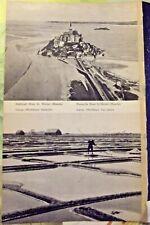 1962 Carnac Salines Fleurs de sel,Mont st-Michel Manche carte France armoricaine