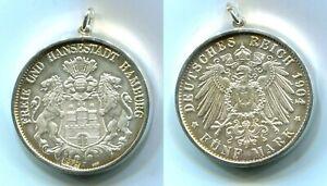 "Silbermedaille Hamburg 1979 ""5 Mark 1904"" 1 Unze"