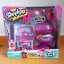 Shopkins Food Fair Cupcake Queen Cafe Exclusive cake boxes display storage moose