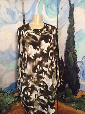 SIMPLY VERA WANG L GREEN CAMOUFLAGE  SHEER PANEL LONG SLEEVE ABOVE KNEE DRESS