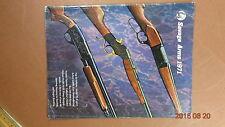 1971 SAVAGE ARMS CATALOG RIFLES & SHOTGUNS ANSCHUTZ AIR RIFLES