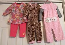 Carter's Super Cute/Child of Mine Toddler Girl Outfits 18 mo Lot of 3