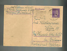 1942 Germany Buchenwald Concentration Camp Postcard Cover to BM Adolf Bilberger