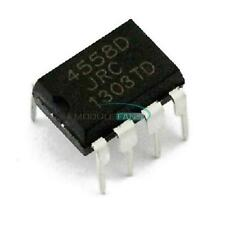 50PCS JRC 4558D  JRC4558D DIP 8 OPAMP OP AMPS CHIP IC Low Power TS808 TS9