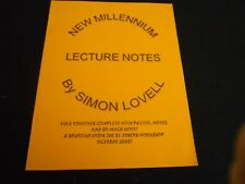 New Millenium Lecture Notes by Simon Lovell