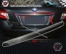 Trunk Handle Chrome Trim Cover Dry Carbon Fits SUBARU WRX STI  2015 2016 17 2018