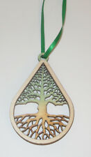 Tree Ornament Engraved Birch Wood New Souvenir Usa Made