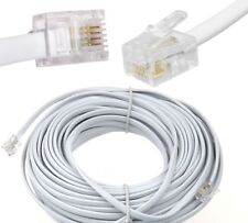 20m Meter RJ11 to RJ-11 ADSL Broadband Internet Router Modem DSL Phone Cable UK