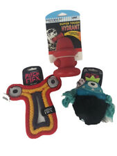 Lof of 3 Spunky Pup Dog Chew Toys Alien Flex and Hydrant