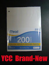 Mead Notebook Filler Paper  -200 sheets - college ruled - 10.5 x 8in #15326
