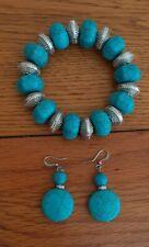 Turquoise Bracelet  & Earing Set New