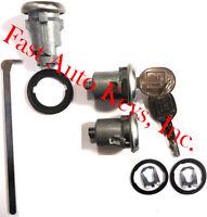 New BUICK GM OEM Chrome Doors/Trunk Lock Key Cylinder Set With Keys To Match