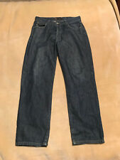 "Mens Henri Lloyd Designer Smart Fly Button Dark Jeans - 32"" Waist - Leg 32"""