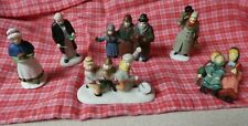 Dept 56 Dickens people N Nickleby, Carolers, Fezziwig lady, ,Xmas Morning lot