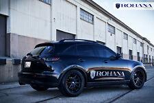 20x9 +35 20x10 +40 Rohana RC10 5x114 Black Wheels Fit Infiniti Fx35 Fx45 Concave