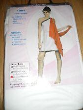 GREEK ROMAN TOGA LADY ADULT FANCY DRESS COSTUME size 10 12 14