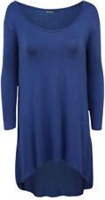 Maglie e camicie da donna maniche a 3/4 blu viscosi