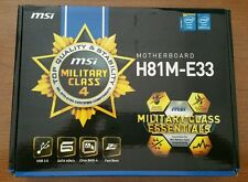 Brand New MSI H81M-E33 LGA 1150 MicroATX Intel Motherboard