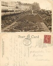 s07361 Carpet Gardens, Eastbourne, Sussex, England postcard posted 1951 stamp
