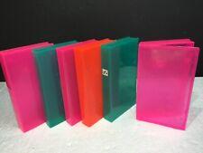 Lot Of 6 Video Tape Cassette VHS Plastic Cases - 3 Colours - Hinge Type