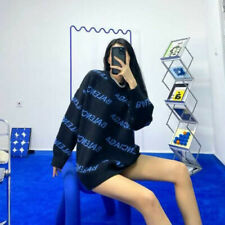 Hot Letter Pattern Pullover Women's Fall Fashion Casual Sweater 2020