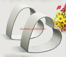 2pcs Loving Heart Metal Cookie Cutters Valentine's Day Biscuit Cake Decor Mold