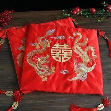 2 Chinese Dragon And Phoenix Kneeling Cushions Wedding Tea Ceremony