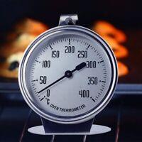 Grill Ofen Backofen Thermometer Küchen bis 400 °C Grad Edelstahl Backen Kochen