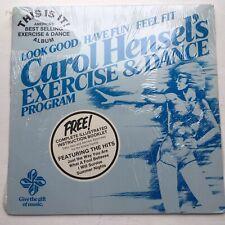 CAROL HENSEL'S EXERCISE & DANCE RARE MINT SEALED LP HYPE STICKER