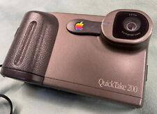Vintage Apple QuickTake 200 Camera w/viewfinder, strap, orig. box, mem card,etc.