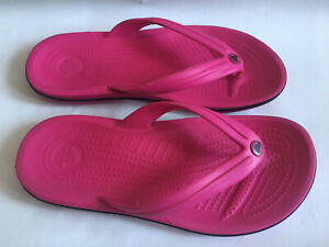 Crocs Flip Flops Flat Sandal Pink Toe Post Size UK 5